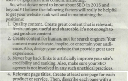 Search Engine Optimization – What you need to know about SEO in 2015 and beyond!