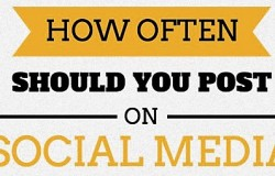 How often should you post on social media? #infographic