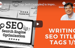 [Videos] Writing Title, META Descriptions, Keywords, and URLs